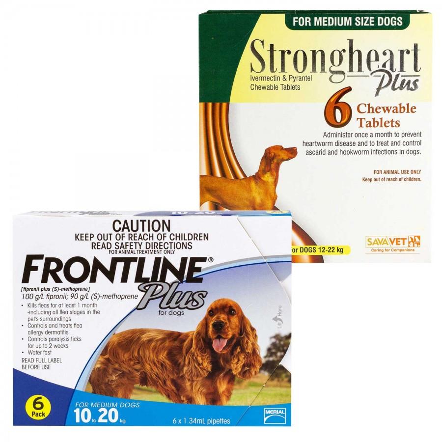 ストロングハートプラス・チュアブル+フロントラインプラス中型犬用