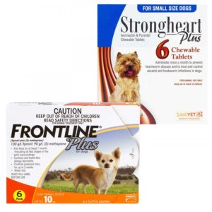 ストロングハートプラス・チュアブル+フロントラインプラス小型犬用