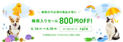 クーポンコード【 rain 】