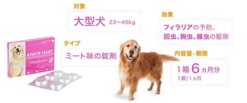 キウォフハート 大型犬用